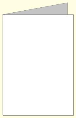 Briefumschlag, ivory gerippt, 125x176mm