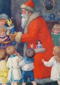 Roger, Karl. der Weihnachtsmann mit Kindern, 1827