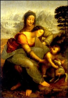 Leonado da Vinci. Die Jungfrau, das Kind und St. Anna. KK