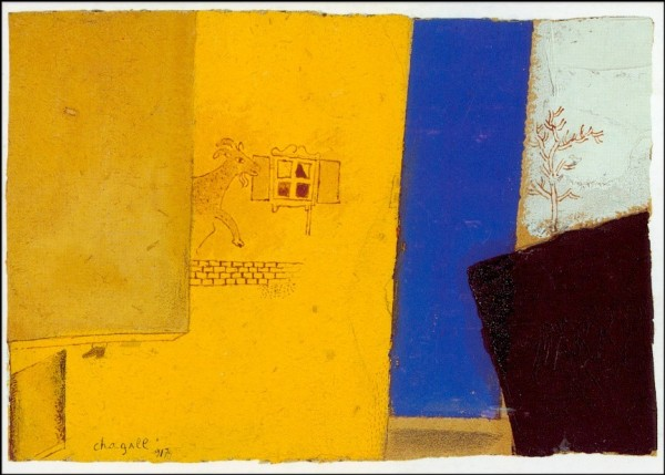 Marc Chagall. Komposition mit Ziege. KK