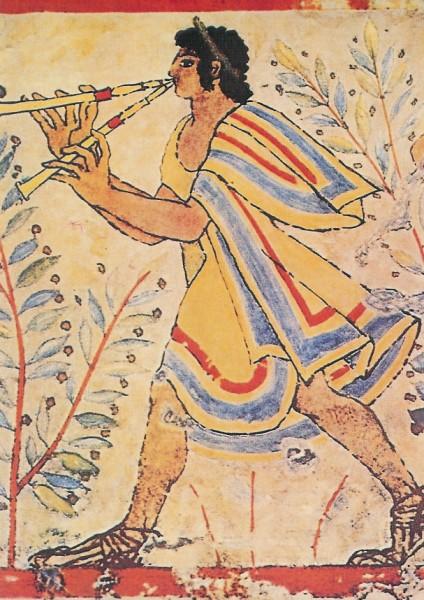Etruskisch. Flötenspieler, 480 v. Chr. KK
