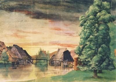 Albrecht Dürer. Die Weidenmühle, um 1506