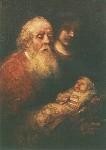 Rembrandt. Simeon und Jesus. KK