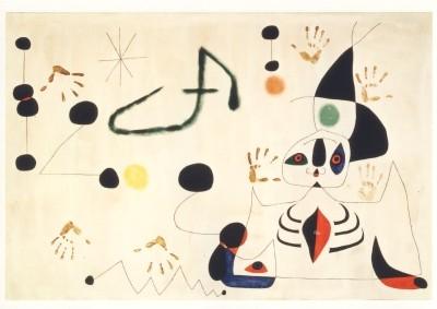 Joan Miró. Frau in der Nacht, 1945