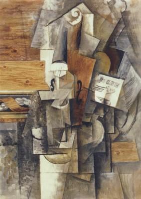 Pablo Picasso. Violin - Jolie Eva, 1912