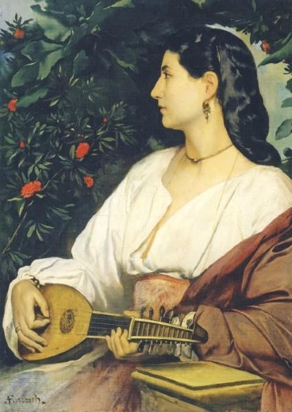 Anselm Feuerbach. Mandolinenspielerin, 1865