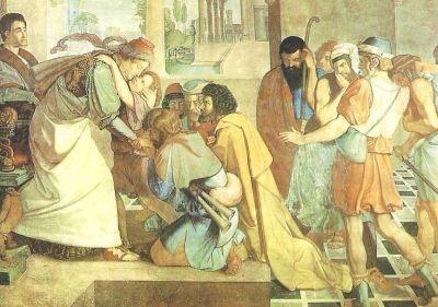 Cornelius, P. Joseph gibt sich seinen Brüdern zu erkennen.KK