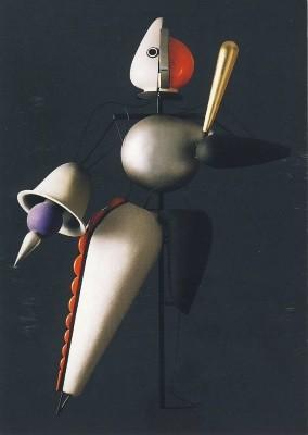Oskar Schlemmer. Das Triasische Ballett, sw Reihe, 1922. KK
