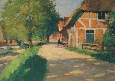 Herbst, Thomas. Deich in Cranz im Sonnenlicht, um 1900
