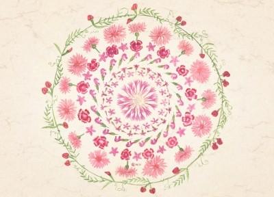 Anna Lübsee. Rosa-Mandala