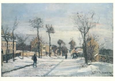 Camille Pissarro. Route de Versailles, Louveciennes