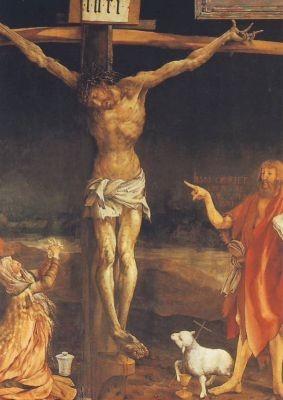 Isenheimer Altar Jesus am Kreuz Grünew.