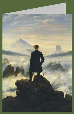 C. D. Friedrich. Der Wanderer über dem Nebelmeer, um 1818