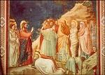 Giotto di Bondone. Erweckung des Lazarus. KK