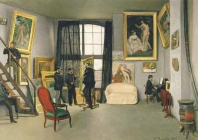 Frederic Bazille. Das Atelier des Künstlers in Paris, 1870