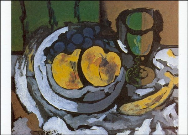 Braque, Georges. Stilleben mit Früchten, 1925. KK