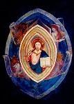Assisi. Christus mit den vier Evangelistensymbolen. 14.Jh.KK