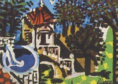 Picasso, P. Garten in Vallauris, 1952