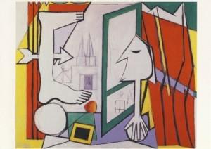 Pablo Picasso. Das offene Fenster. (Atelier/Künstlers) 1929