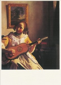Jan Vermeer van Delft. Der Gitarre-Spielerin. KK