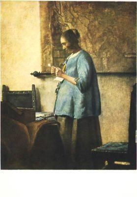 Jan Vermeer van Delft. Der Brief. KK