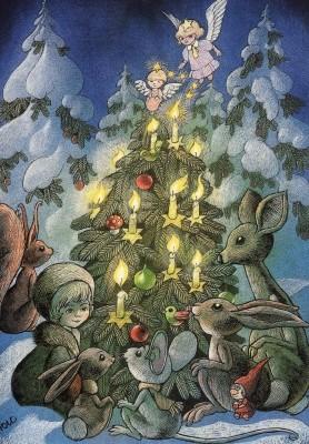 Hans Arnold. Um den Weihnachtsbaum herum