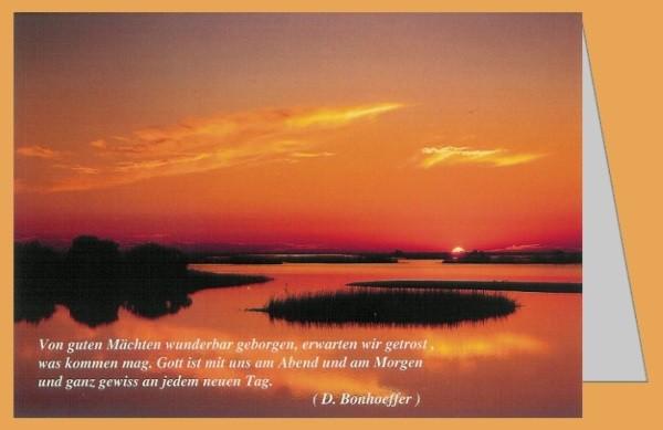 Hoorick. Sonnenuntergang über Seenlandschaft. Foto DK