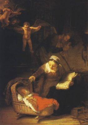Rembrand. Die Heilige Familie mit den Engeln
