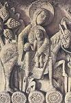 Romanisch. Heilige Familie a.d. Flucht n.Ägypten,1220/30. KK