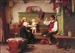 Christian-Eduard Boettcher. Bauernfamilie, 1868. KK