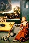 Cranach, Lucas d.Ä. Maria mit dem schaukelnden Kind. KK