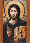 Christus Pantokrator, Enkaustische Ikone 6. Jh. KK