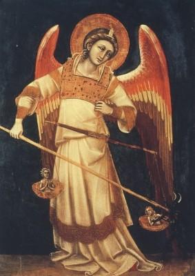 Guariento, R. Michael mit der Waage um 1370. KK
