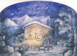 Friedgard Pundsack-Rohde. Adventskalender. 43 x 30 cm