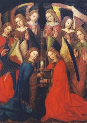 Rottweiler Meister. Engel mit Monstranz, um 1440