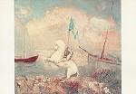 Odilon Redon. Weisses Pferd mit Reiterin. KK