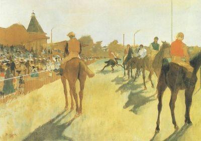 Edgar Degas. Rennpferde von den Tribünen, 1869-72. KK
