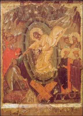 Byzantinisch. Auferstehung Christi (Höllenfahrt) Ikone. KK
