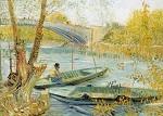 Vincent van Gogh. Angeln im Frühling. KK