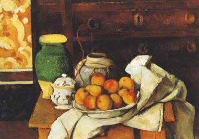Cézanne, P. Stillleben,Teller mit Äpfeln, um 1885. KK