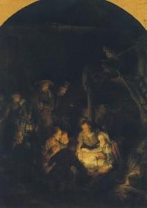 Rembrandt. Anbetung der Hirten, 1646. KK