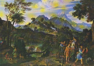 Koch, J.-A. Landschaft mit den Kundschaftern aus Gelobten L.