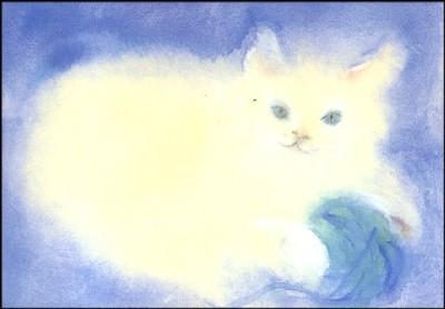 Dorothea Schmidt. Spielende Katze. KK