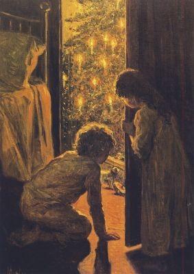 Henry Mosler. Der Christbaum, ca. 1916