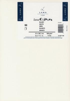 LANAC olours Kün.papier, DINA 4 160g /qm, 50 Blatt, Weiß