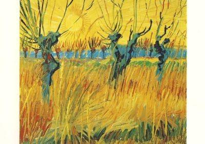Gogh, V. Weiden bei Sonnenaufgang, 1888. KK