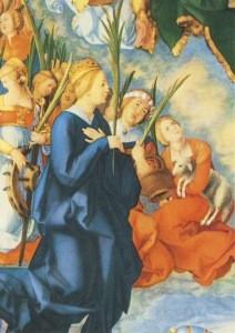 Albrecht Dürer. Das Allerheiligenbild, Ausschnitt