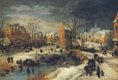 Joos de Momper. Dorf im Winter