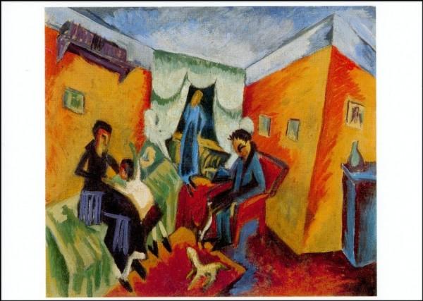 Ernst Ludwig Kirchner. Interieur, 1915. KK