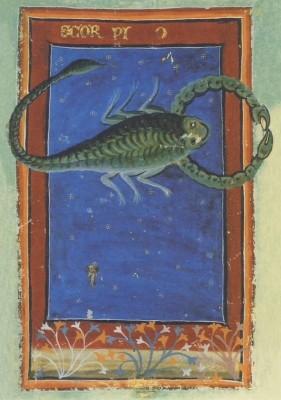 Liber Astrologiae, 14. Jh. Skorpion. KK